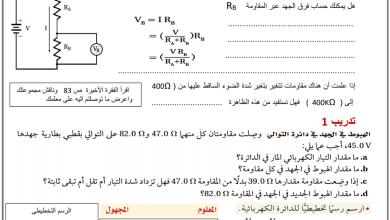 Photo of ورقة عمل مجزئ الجهد فيزياء صف ثاني عشر عام فصل ثاني