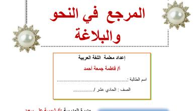 Photo of المرجع في النحو والبلاغة لصفوف الاساسي والثانوي لغة عربية