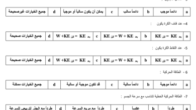 Photo of أوراق عمل مراجعة الطاقة وحفظها فيزياء صف حادي عشر فصل ثالث