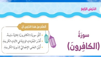 Photo of حل درس سورة الكافرون اسلامية الصف الثاني الفصل الاول
