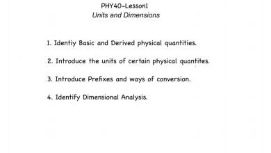 Photo of ملخص الدرس الأول فيزياء صف تاسع متقدم فصل أول