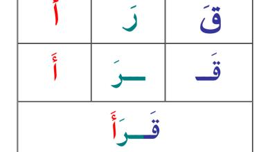 Photo of بطاقات تساعد على التهجئة والقراءة لغة عربية صف أول فصل أول