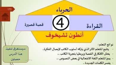 Photo of حل درس قصة الحرباء لانطوان تشيخوف لغة عربية فصل أول صف ثاني عشر