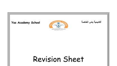 Photo of مراجعة ثانية للوحدة الأولى لغة إنجليزية صف ثالث فصل أول