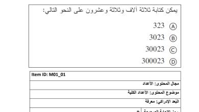 Photo of نماذج امتحان امسات رياضيات صف رابع فصل أول
