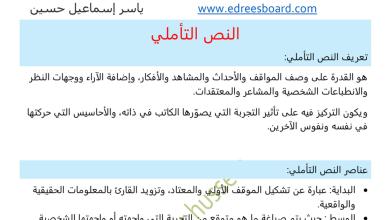 Photo of توجيهات في كتابة النص التأملي لغة عربية صف ثاني عشر