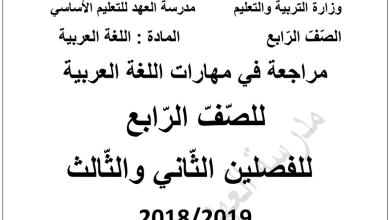 Photo of أوراق عمل (فهم المقروء) شاملة الفصل الثاني والثالث لغة عربية صف رابع
