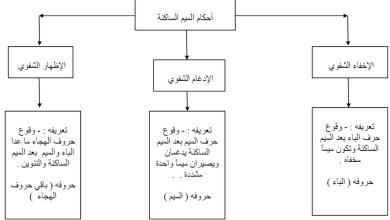 Photo of ملخص درس أحكام الميم الساكنة تربية إسلامية صف السابع الفصل الثاني