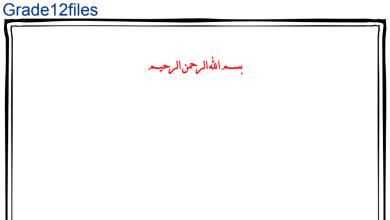 Photo of ملخص 3 فيزياء صف ثاني عشر متقدم فصل ثاني