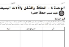 Photo of حل وحدة الطاقة والشغل الآلات كتاب النشاط علوم صف سادس فصل ثاني