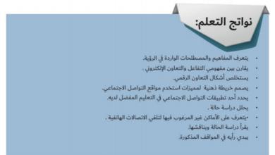 Photo of حل رؤية التفاعل والتعاون الإلكتروني من كتاب المواطنة الرقمية دراسات اجتماعية صف ثاني عشر فصل ثاني