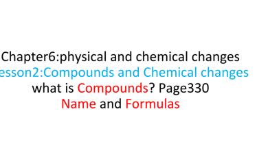 Photo of ملخص درس المركبات والتغيرات الكيميائية علوم منهج إنجليزي صف خامس فصل ثاني