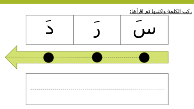 Photo of ملف تدريب لتركيب الكلمة وقراءتها لغة عربية صف أول فصل ثاني