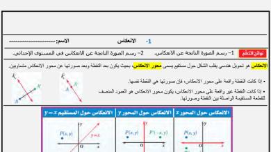 Photo of أوراق عمل التحويلات رياضيات رياضيات صف عاشر فصل ثاني