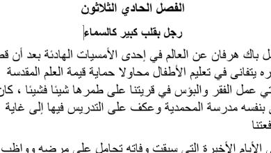 Photo of تلخيص الفصل الحادي والثلاثون رجل بقلب كبير كالسماء|عساكر قوس قزح
