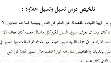 Photo of تلخيص قصة تسيل وتسيل حلاوة للصف الخامس