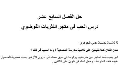 Photo of حل الفصل السابع عشر في متجر النثريات الفوضوي|عساكر قوس قزح