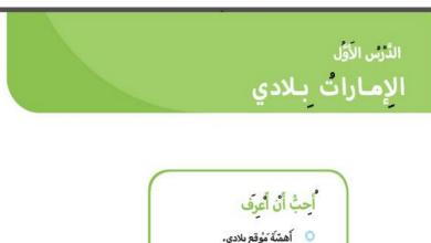 Photo of حل درس الإمارات بلادي دراسات اجتماعية صف أول فصل ثالث