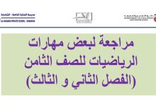 Photo of مراجعة شاملة ونهائية للفصلين الثاني والثالث رياضيات صف ثامن