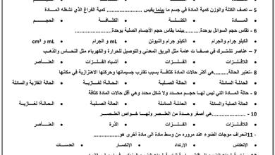 Photo of مراجعة نهائية علوم صف خامس فصل ثالث
