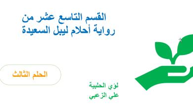 Photo of حل الفصل التاسع عشر درس الحلم الثالث احلام ليبل السعيدة