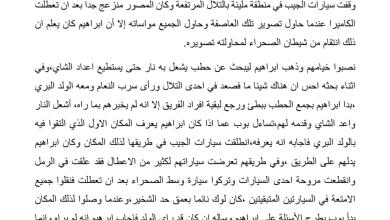 Photo of تلخيص الفصل الثلاثين شياطين الصحراء تنتقم رواية الولد الذي عاش مع النعام الصف السابع