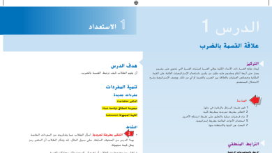 Photo of حل درس علاقة القسمة بالضرب رياضيات صف خامس فصل أول
