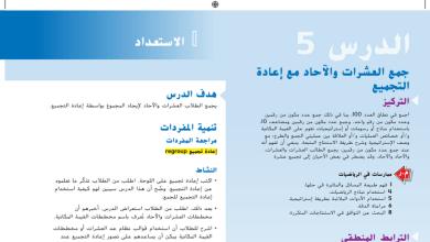 Photo of حل درس جمع العشرات والآحاد مع إعادة التجميع رياضيات صف أول فصل أول