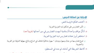 Photo of حل درس تضاريس شبه الجزيرة العربية دراسات اجتماعية صف سابع فصل أول