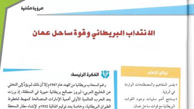 Photo of حل الرؤية الثالثة الانتداب البريطاني وقوة ساحل عمان دراسات اجتماعية صف حادي عشر فصل أول