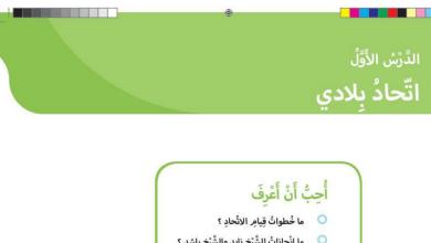 Photo of حل درس اتحاد بلادي دراسات اجتماعية صف أول فصل أول