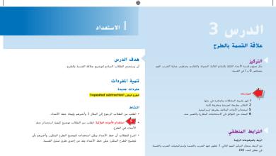 Photo of حل درس علاقة القسمة بالطرح رياضيات صف ثالث فصل أول