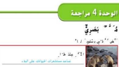 Photo of حل مراجعة وحدة مظاهر التكيف والبقاء على قيد الحياة علوم صف رابع فصل أول