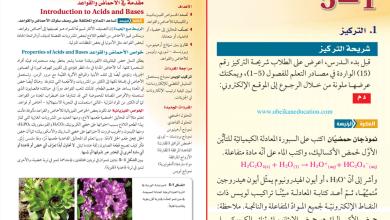 Photo of حل درس مقدمة في الأحماض والقواعد أحياء صف ثاني عشر متقدم فصل أول
