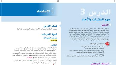 Photo of حل درس جمع العشرات والآحاد رياضيات صف أول فصل ثاني