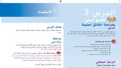 Photo of حل درس مضاعفة الحقائق المعلومة رياضيات صف ثالث فصل ثاني