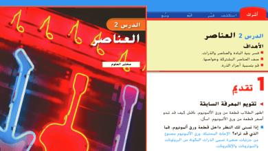 Photo of حل درس العناصر علوم صف خامس فصل ثاني