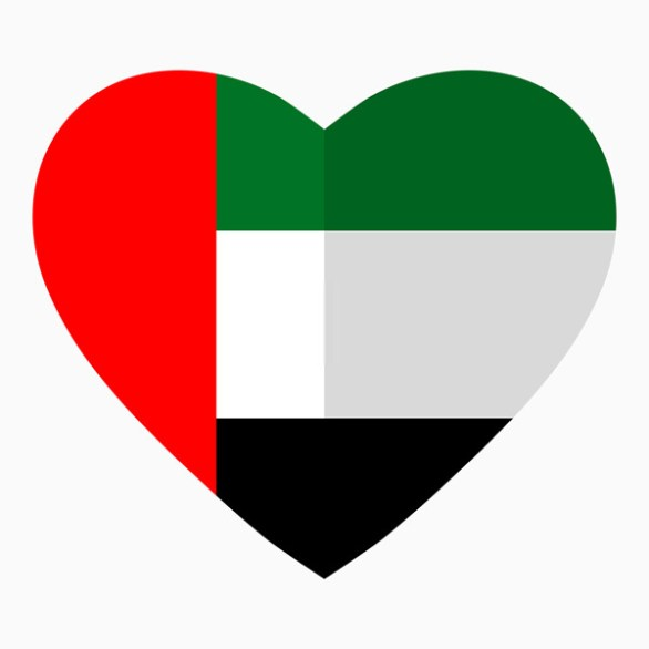 Dubai National day heart