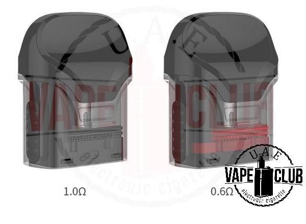 Authentic Uwell Crown Replacement Pods 2ps We have more Products for Vape IQOS Device, Heets, Myle kits & Pods, Juul kit & Pod, Disposables vape Buy Uaevapeclub.com