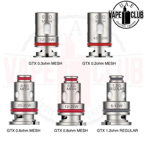 VAPORESSO TARGET PM30-80 GTX COIL We have more Products for Vape IQOS Device, Heets, Myle kits & Pods, Juul kits & Pod, all Disposables vape Buy Uaevapeclub.com