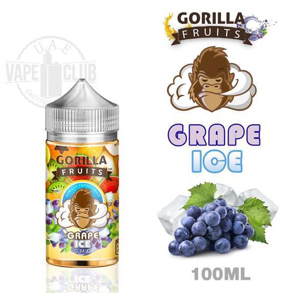 Gorilla fruits grape ice