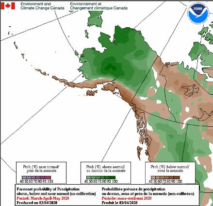 Precipitation Outlook: March - May 2020