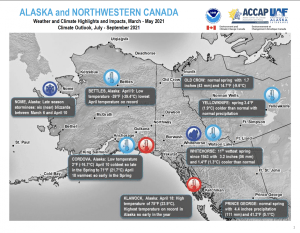 Weather and Climate Highlights and Impacts, March - May 2021