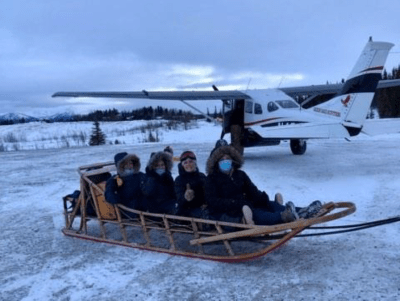 Medical professionals with Maniilaq Association, Northwest Alaska's tribal health care provider, ready to head into Shungnak (population 262 in 2010) to begin giving COVID vaccines, December 2020. Photo by K. Bengaard and used with permission