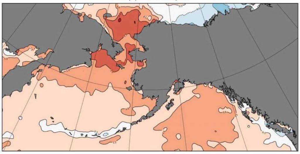 ocean temperatures map