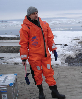 Andrey Pnyushkov, research expedition on Svalbard, 2009 (Photo by P. Bogorodsky).