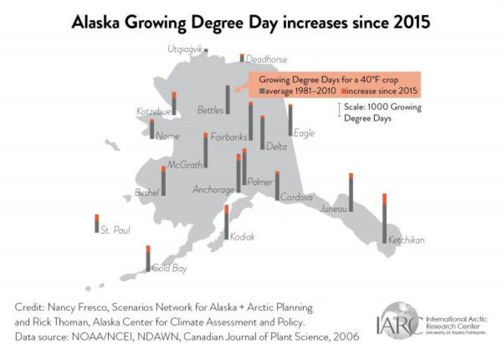 alaska growing degree days map