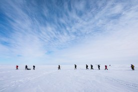 people on sea ice
