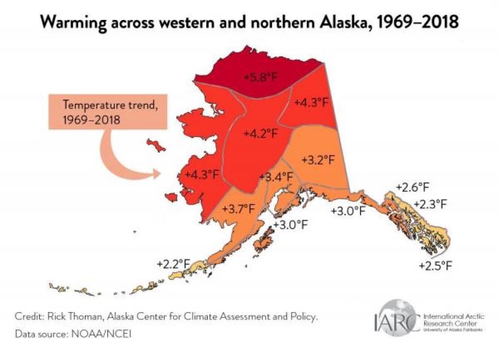 alaska warming map