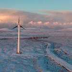 Wind turbine in Toksook Bay, Alaska